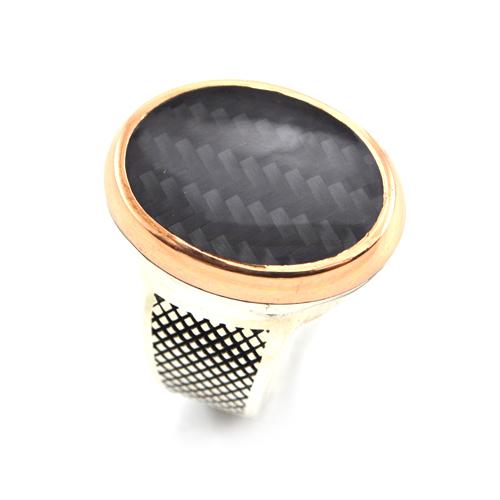 خاتم فضة رجالي 925 كلاسيك (أسود)
