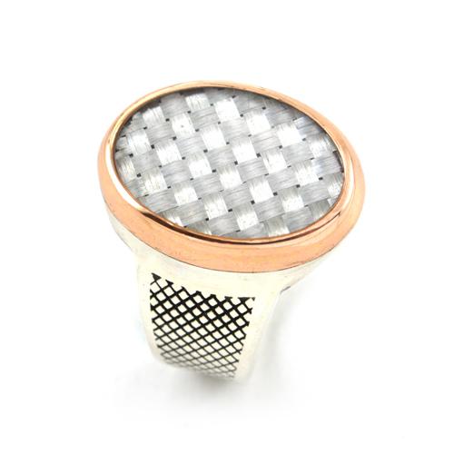 خاتم فضة رجالي 925 كلاسيك (أبيض)