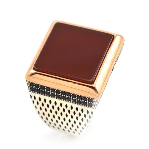 خاتم فضة رجالي 925 مربع