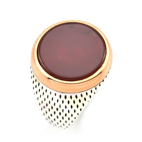 خاتم فضة رجالي 925 دائري