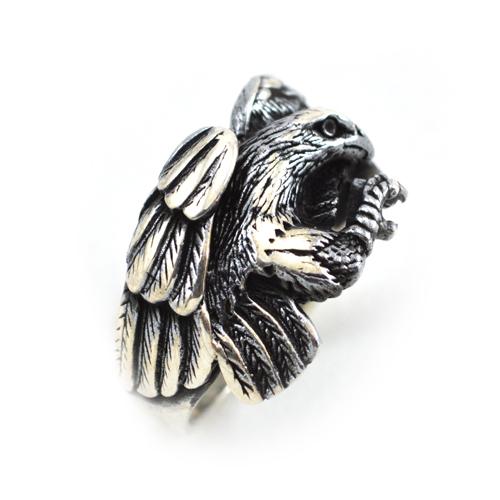 خاتم فضة رجالي 925 نسر